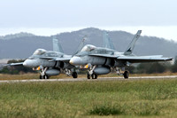 F/A-18A Takeoff for formation and ground attack display - Friday 4th March - Avalon 2011